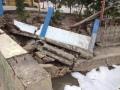 Begrenzungsmauern hielten den Wassermassen nicht stand