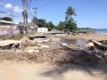 Ein Stück der Uferstraße einfach weggespült