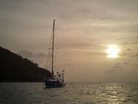 Saint Lucia - eine halbe Stunde bis zum Sonnenuntergang