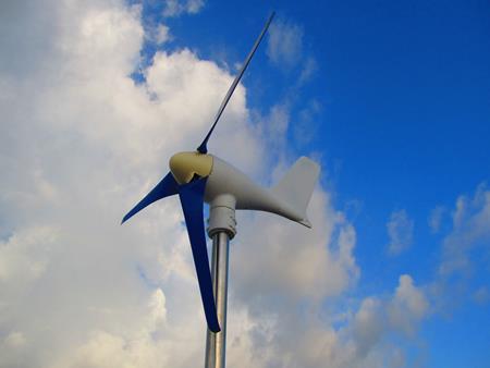 Unser Windgenerator nach der Überholung