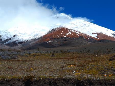 Wolkenschleier umzieht den Cotopaxi