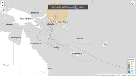 cyclocane: mögliche Sturmrichtungen Stand: 30.11.2018