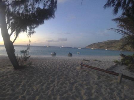 Seglerabend auf Lizard Island mit Blick auf die Schiffe