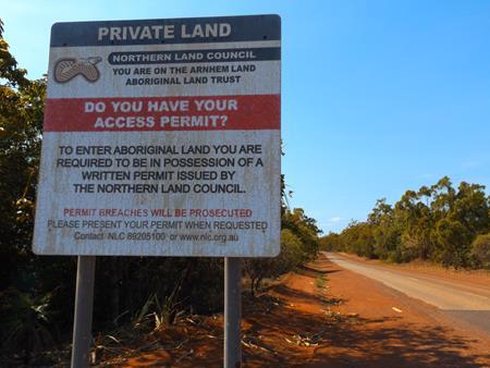 Aborigine Zone: Erlaubnis erforderlich