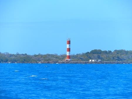 Hübscher Leuchtturm auf Home Islands