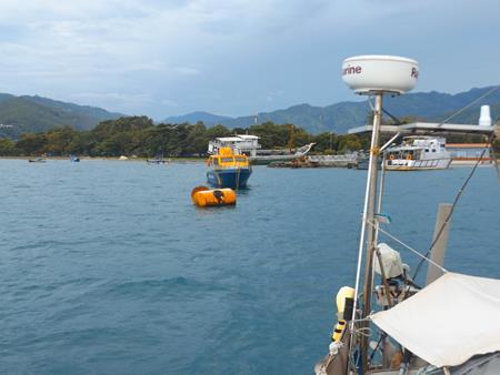 Das Polizeiboot direkt neben uns