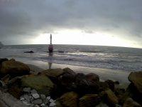 Kurz vor dem Leuchtturm verläuft die Fahrrinne nach Bahia de Caraquez