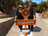 Intinan: Die GPS Koordinaten am richtigen Äquator