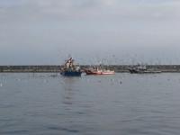 A Coruña: Fischer vor dem Hafen