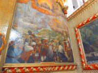 Vulkanausbruch und die verschonte Kirche