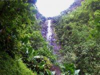 Unser einsamer Wasserfall