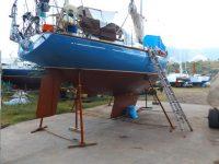 Nun hat Gegenwind neue Unterwasserschiffsfarbe bekommen