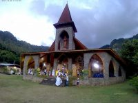 Auf zur Weihnachtsmesse in Vaitahu