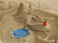 Cascais: Kunstvolle Sandburg
