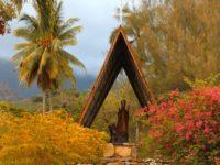 Traditionelle polynesische Holzarbeit