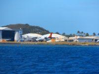 Passage am internationalen Flughafen von Papeete
