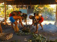 Traditionelle Essenszubereitung im Steinofen