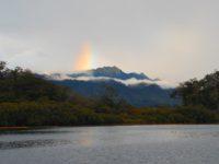 Regenbogen über den Bergen von Vanua Levu