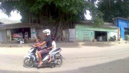 Kindertransport auf dem Zweirad
