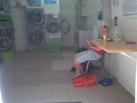 Waschcenter für die Atlantikwäsche auf Martinique