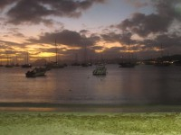 Karibikfeeling unser Ankerplatz vor Saint Anne, Martinique