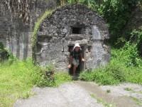Ruine der vulkansicheren Gefängniszelle