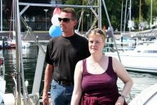 Asha und Helge vor dem Auslaufen aus Kiel-Düsternbrook