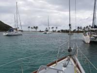 Die Salt Whistle Bay ist gut besucht von Yachties