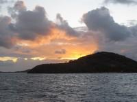 Sonnenuntergang auf den Tobago Cays