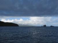 Regenzeit: Ronde Island kurz vor dem Schauer mit Blick auf Grenada