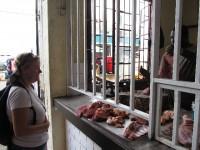 Fleischmarkt: Ware fertig zum Verkauf
