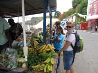 Frische Früchte vom Straßeverkauf