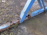 Gegenwinds Werftlagerbock hatte an einer Stütze mehr Rostlöcher als feste Teile
