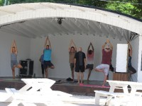 Yoga in der Prickly Bay