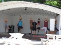 Yoga in der Prickly Bay