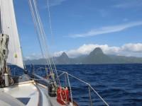Pitons: Unsere Ansteuerung auf St. Lucia