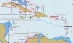 Unsere geplante Route von Martinique nach Kuba
