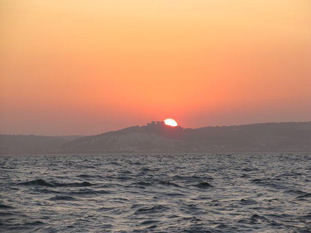 Sonnenuntergang bei Dover