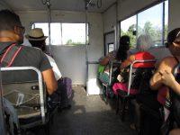 Rückfahrt mit dem LKW-Bus