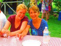 Gute Stimmung: Asha und Sue