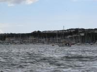 Plymouth massenhaft Mooringplätze vor dem Yachthafen