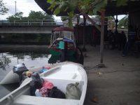 Bootanleger in Almirante direkt hinter dem Supermarkt
