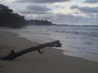 Hurrikan OTTO hat den herrlichen Strand verkleinert