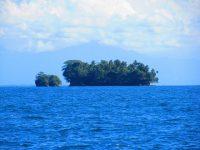 Blumentopfartige Felseninseln auf den Flachs