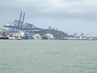 25_Panama City: Hafenbetrieb vor den Schleusen