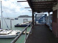 Lande- und Versorgungsbrücke vom Balboa Yacht Club