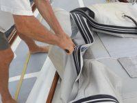 Verwertung unseres schönen alten Schlauchbootes